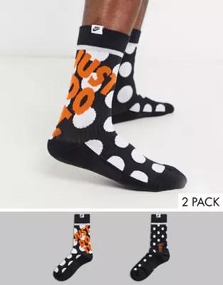 Nike Just Do It 2 pack socks in black | ASOS