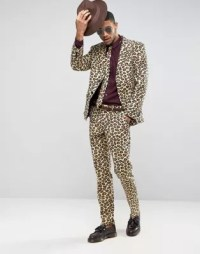 OppoSuits Slim Leopard Print Suit + Tie