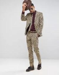 OppoSuits Slim Leopard Print Suit + Tie | ASOS