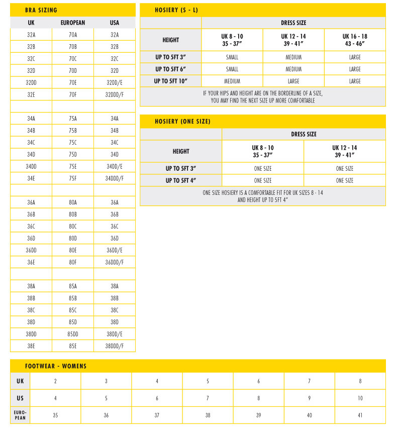 Usa Uk European Size Conversion Chart Trendy Curves By Bella