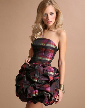 Unique Boutique Gathered Tartan Party Dress £100