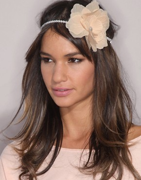 ASOS Vintage Style Corsage Stretch Pearl Hairband