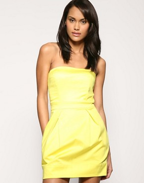 French Connection Strapless Mini Tulip Dress