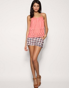 Pepe Jeans Check Mini Shorts
