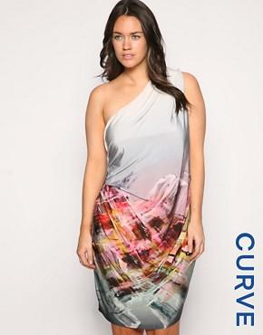 ASOS CURVE Digital Gemstone Slinky Dress