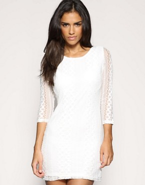 Rare Lace Tie Neck Dress