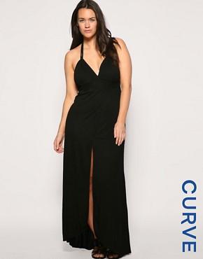 ASOS CURVE Beach Front Split Grecian Maxi Dress