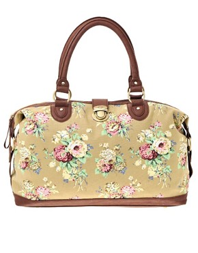 ASOS Canvas Floral Holdall