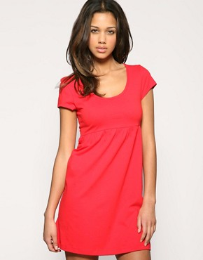 ASOS Cap Sleeve Jersey Empire Dress