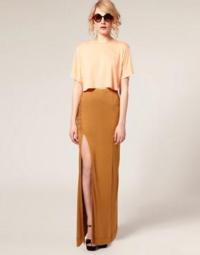 Image 1 ofASOS Side Split Maxi Skirt