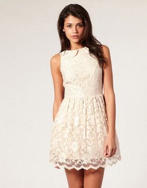 Image 1 ofASOS Lace Dress with Peter Pan Collar