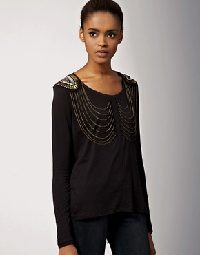 Image 1 ofSass & Bide People I Love Chain Embellished Top