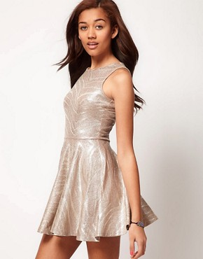 Image 1 of River Island Glitter Print Skater Dress