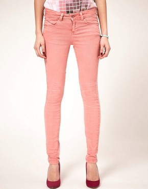 Image 1 of ASOS Skinny Jeans in Washed Rose #4