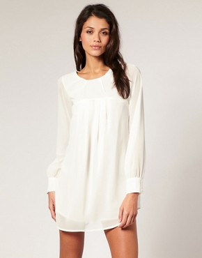 Image 1 of Paprika Open Back Bell Sleeve Chiffon Dress