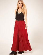 Minkpink 'Great Expectations' Button Thru Maxi Skirt