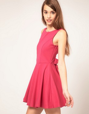 Image 1 of ASOS Skater Dress With Low Bow Back