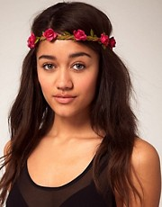 River Island Rose Garland Headband