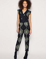 ASOS AFRICA Printed Jumpsuit