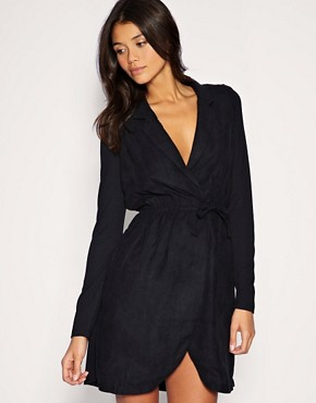 Image 1 of Vero Moda Low V Wrap Dress