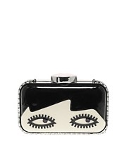 Lulu Guinness Fifi Dolls Face Clutch