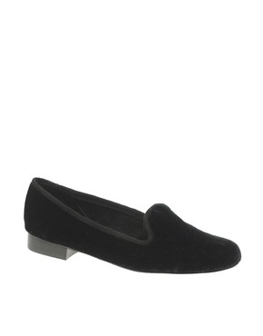 Image 1 of ASOS LEO Velvet Slipper Shoes