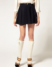 ASOS Ribbon Tie Pelerine Knee High Socks