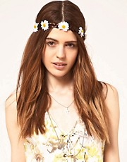 ASOS Fake Hair Head Band With Daisy Plait
