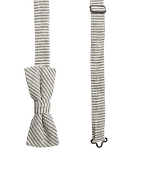 Image 1 of ASOS Stripe Bow Tie