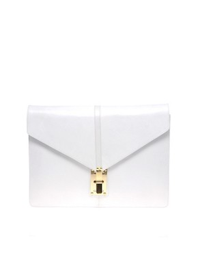 Image 1 of ASOS Leather Portfolio Clutch