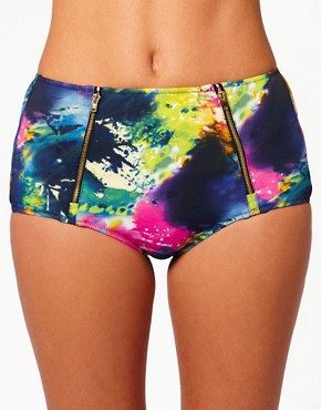 River Island Paint Splashed Bikini Briefs