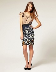 Mina Pencil Skirt With Floral Print