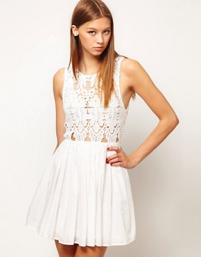 Image 1 ofAlice McCall Anais Dress In Silk Cotton With Cutwork Bodice