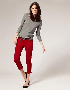 Image 1 ofRiver Island Red Super Skinny Jeans