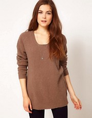 American Vintage Wool Round Neck Jumper in Oversized Fit