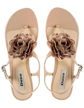 Image 3 ofDune Fleur Corsage Patent Sandal