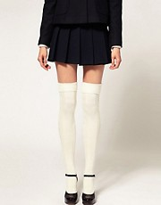 ASOS Wool Cable Over The Knee Socks