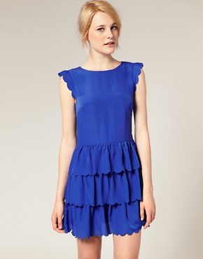 Image 1 of ASOS Dress with Scallop Detail