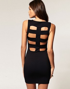 Image 1 of ASOS Mini Dress With Cage Back