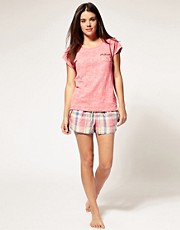 Juicy Couture Seersucker Pleat Front Short