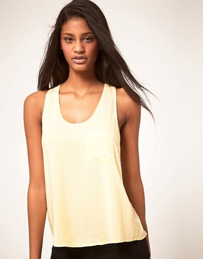 Image 1 of ASOS Woven Pocket Front Tank