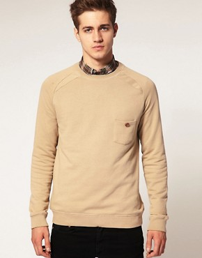 Image 1 of River Island Elbow Patch Sweat Shirt