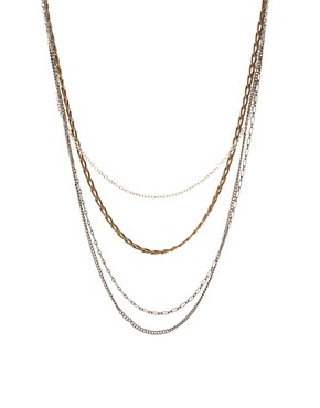 Image 1 of ASOS Multi Chain Long Necklace