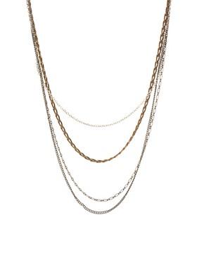 Image 1 ofASOS Multi Chain Long Necklace