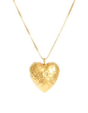 Image 1 of Susan Caplan Exclusive For ASOS Vintage Puff Heart Pendant