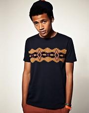 ASOS Fairisle Chest Print Crew Neck T-Shirt