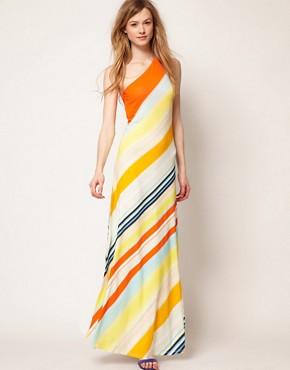 maxi dress, long dress, ted baker, women, bias,striped