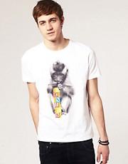 ASOS - T-shirt ras du cou imprimé singe et cubes Genius