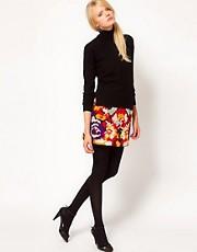 YMC Marble Mini Skirt in Embroidered Flower