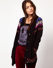 Paul by Paul Smith Fairisle Chunky Cardigan